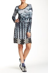 Desigual Printed Long Sleeve Dress Multi