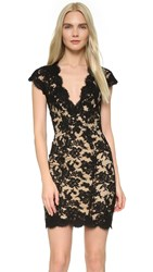 Reem Acra Lace Cocktail Dress Black