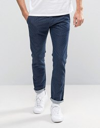 Edwin 55 Japanese Dot Relaxed Chinos Blue