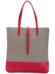 Tomas Maier Palms Patches Shopping Bag Women Leather Nylon One Size Nude Neutrals