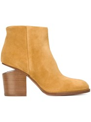 Alexander Wang 'Gabi' Ankle Boots Yellow And Orange