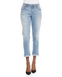 Eileen Fisher Stretch Boyfriend Jeans Faded Blue Petite Women's