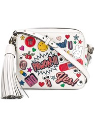 Anya Hindmarch All Over Sticker Crossbody Bag Nude And Neutrals