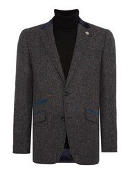 Simon Carter Herringbone Fleck Jacket Grey