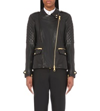 Burberry Remmington Leather Jacket Black