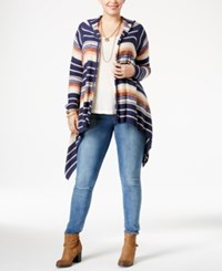 American Rag Trendy Plus Size Cascade Cardigan Only At Macy's Eclipse Combo