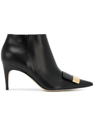 Sergio Rossi Sr1 Booties Calf Leather Leather Black