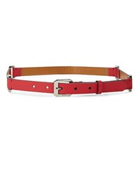 Lauren Ralph Lauren Leather Buckle Belt Red