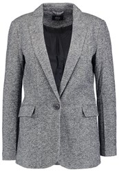 Onlyangon Blazer Dark Grey Melange Mottled Dark Grey