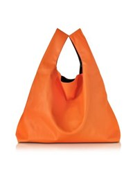 Maison Martin Margiela Mm6 Pumpink Orange Eco Leather Tote