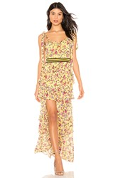 For Love And Lemons Maison Maxi Dress Yellow