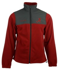 Columbia Men's Alabama Crimson Tide Fast Tech Fleece Jacket Red Charcoal