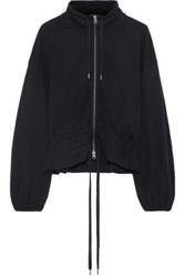 Frame Woman Gathered French Cotton Terry Jacket Black