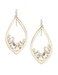 Rj Graziano Crystal Accented Goldtone Teardrop Earrings