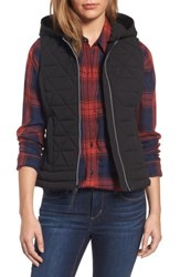 Marc New York Women's Andrew Sage Hooded Quilted Vest Black