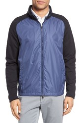 Zachary Prell Men's Syconium Mixed Media Zip Front Jacket