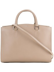 Rochas Wide Tote Bag Women Calf Leather One Size Nude Neutrals