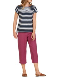 Seasalt Sailor T Shirt Breton Night Ecru