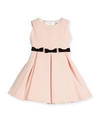 Helena Fit And Flare Dress W Bows Size 2 6 Light Pink