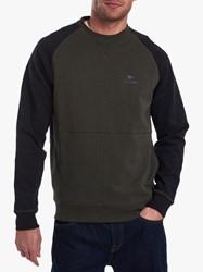 Barbour Creek Crew Sweatshirt Forest