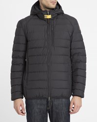 Parajumpers Black Hooded Last Minute Down Jacket