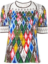Peter Pilotto Argyle Print T Shirt Multicolour