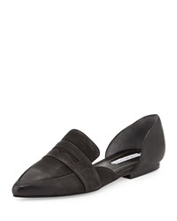 Kitty Leather D'orsay Loafer Black Charles David