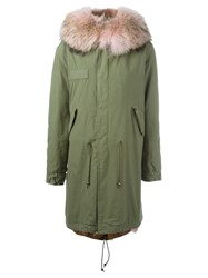 Mr And Mrs Italy Raccoon Coyote Fur Lined Parka Pink And Purple