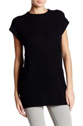 Cullen Short Sleeve Mixed Knit Cashmere Tunic Black