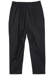 Chapter Black Twill Jogging Trousers