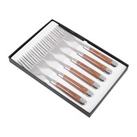 Forge De Laguiole Compressed Fabric Handle Forks Set Of 6 Chocolate