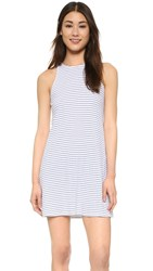 The Lady And The Sailor Bare Tank Dress White Crinkle Stripe