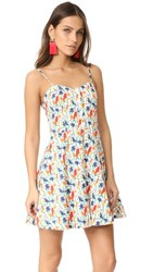 Alice Olivia Nella Button Front Dress Bird Party