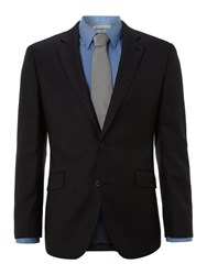 New And Lingwood Mayfair Pinstripe Suit Jacket Grey