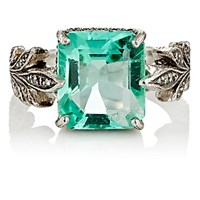 Cathy Waterman Women's Emerald Leafside Ring No Color