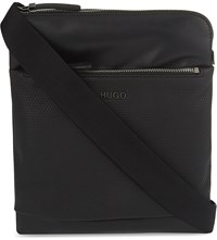 Hugo Boss Preben Leather Cross Body Bag Black