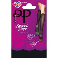 Pretty Polly Sweet Steps Knee High Socks Pack Of 1 Black