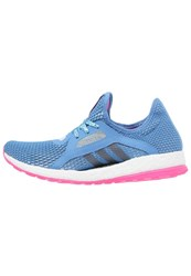 Adidas Performance Pureboost X Cushioned Running Shoes Shock Blue Halo Blue Shock Pink