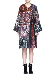 Chloe Tapestry Jacquard Wrap Coat Multi Colour