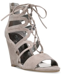 Carlos By Carlos Santana Madelyn Lace Up Wedge Sandals Women's Shoes Doe