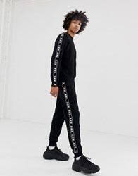 Diesel K Suit A Sweat Joggers In Black With Taping