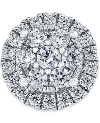 Macy's Create Your Ring Diamond Cluster Style Head 3 4 Ct. T.W. In 14K White Gold No Color