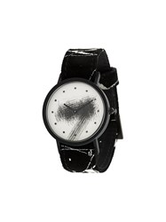South Lane Avant Silent Watch Calf Leather Stainless Steel Black