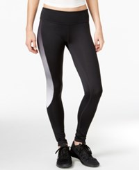 Ideology Colorblocked Training Leggings Only At Macy's Deep Charcoal