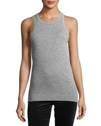 Ag Jeans Lexi Crewneck Fitted Tank Gray