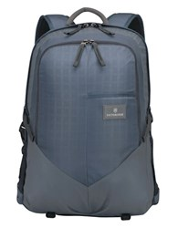 Victorinox Deluxe Padded Nylon Laptop Backpack Navy
