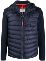 Parajumpers Jersey Panelled Puffer Jacket Blue