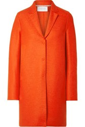 Harris Wharf London Oversized Wool Felt Coat Papaya