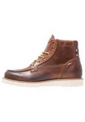 Jack And Jones Jfwlogger Laceup Boots Cognac Brown