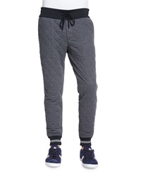 Moncler Diamond Quilted Jogger Pants Gray